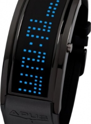 APUS Iota Black Blue LED Watch for Him Programmable Text