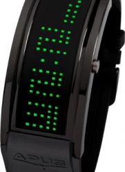 APUS Iota Black Green LED Watch for Him Programmable Text