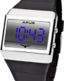 APUS Delta Silver-Blue LED Watch for Him Design Highlight