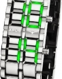 APUS Zeta Silver-Green LED Watch for Him Design Highlight