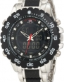 U.S. Polo Assn. Men's US8161 Black and Silver Bracelet Analog Digital Watch