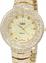 Burgi Women's BUR048YG Diamond Accent Crystal Fashion Watch