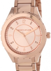 Kenneth Jay Lane Women's KJLANE-2213  Rose Dial Rose Gold Ion-Plated Stainless Steel Watch