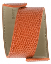 TKO Orlogi Extra Leather Slap Watch Band - Orange