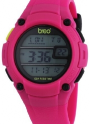 Breo Zone Unisex Digital Watch with Pink Dial Digital Display and Pink Plastic or PU Strap B-TI-ZNE3