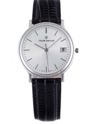 Claude Bernard Men's 70149 3 AIN Classic Gents Black Leather Silver Dial Watch