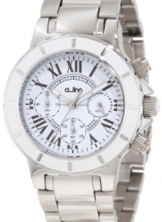 a_line Women's 20106DV Marina Chronograph White Textured Dial Watch