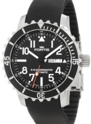 Fortis Men's 670.10.41K B-42 Marinemaster Automatic Black Dial Watch