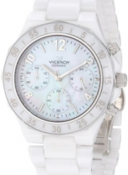 Viceroy Women's 47600-05 White Ceramic Chronograph Watch