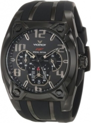 Viceroy Men's 47617-55 Black IP Chronograph Rubber Watch