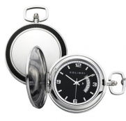 Colibri Pocket Watch Brushed Stainless and Rubber with Chain