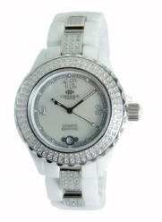 Oniss Paris Women's ON8891-L WHT/WHT Ceramica OMG Swiss Collection White Watch