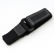 Voguestrap TX982431 Allstrap 13-16mm Black Adjustable-Length Fits Fast-Wrap-Ironman Watchband