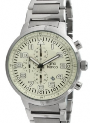 gino franco Men's 9668CR Round Stainless Steel Chronograph Bracelet Watch