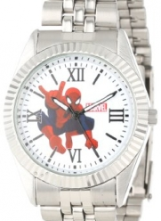 Marvel Comics Men's W000568 Spider-Man Silver-Tone Status Watch