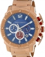 Vince Camuto Men's VC/1020BLRG The Striker Steel Rose Gold-Tone Blue Dial Chronograph Watch