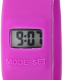 K&BROS Men's 9544-8L LIFETIME Digital Purple Silicon Watch