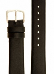 Men's Genuine Italian Leather Watchband - Color Black - 18mm Width - Extra Long Length Watch Band - by JP Leatherworks