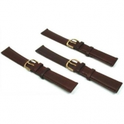 3 Watch Bands Leather Brown Padded Calf 18mm Part