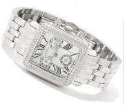 Diamant Rouge Women's Vendome Swiss Quartz Chronograph Diamond Accent Bracelet Watch - White