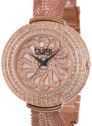 Burgi Women's BUR051RG Crystal Mesh Bracelet Watch