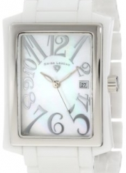 Swiss Legend Women's 10034-WWSA Bella White Ceramic and Mother-Of-Pearl Watch