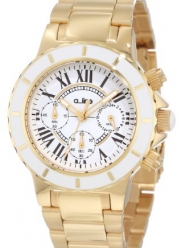 a_line Women's 20108DV Marina Chronograph White Textured Dial Watch