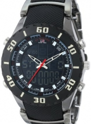 U.S. Polo Assn. Sport Men's US8163 Analog-Digital Black Dial Gun Metal Bracelet Watch