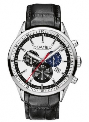 Roamer of Switzerland Men's 508837 41 05 05 Superior Black Leather Chronograph Watch