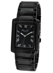 Kenneth Cole New York Men's KC9186 Slim Triple Black Tank Watch