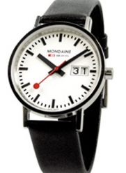 Mondaine Classic Big Date - Polished Finish - 33 mm Unisex Size -  white dial -  A669.30008.11SBO