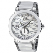 Ulysse Nardin Executive Dual Time Diamond Mother of Pearl Ceramic Ladies Watch 243-10-7-691