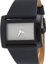 Le Chateau #7015M_GUN_GRY Unisex Divan Collection Gray Dial Leather Dress Watch