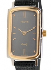 Pedre Women's Retro Two-Tone Petite Black Lizard Strap Watch # 6497TX-BlackLiz