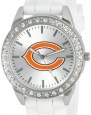 Game Time Women's NFL-FRO-CHI Frost NFL Series Chicago Bears 3-Hand Analog Watch