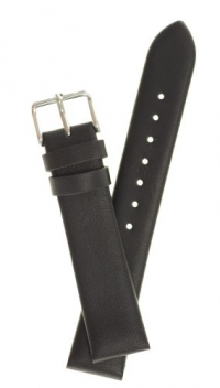 Men's Classic Glove Leather Watchband Black 20mm Watch Band