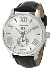 Louis Erard Men's 82222AA01.BDC51 1931 44mm Automatic GMT Grey Dial Rubber Date Watch