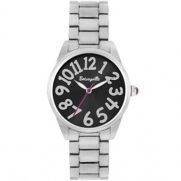 Betsey Johnson Betseyville® Stainless Steel Black Boyfriend Watch