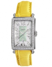 Gevril Women's 7246NL.2 Green Mother-of-Pearl Genuine Alligator Strap Watch