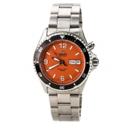 Orient Men's CEM65001M Orange Mako Stainless Steel Automatic Dive Watch