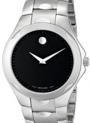 Movado Men's 606378 Luno Sport Stainless-Steel Black Round Dial Bracelet Watch