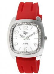 Trax Women's TR1740-WR Malibu Fun Red Rubber White Dial Crystal Watch