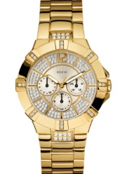 GUESS Women's U13576L1 Dazzling Sporty Gold-Tone Watch