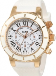 a_line Women's 20102DV Marina Chronograph White Textured Dial White Silicone Watch