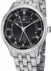 Maurice Lacroix Masterpiece Tradition Five Hands Men's Day Date Stainless Steel Automatic Watch MP6507-SS002-310