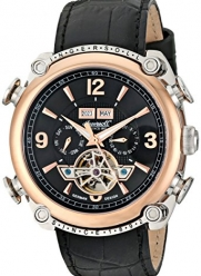 Ingersoll Men's IN4505RBK Classic Stainless Steel Automatic Watch with Black Faux Leather Band