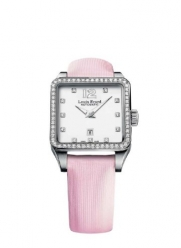 Louis Erard Women's 20700SE11.BDS60 Emotion Stainless Steel Diamond-Accented Automatic Watch with Satin Band