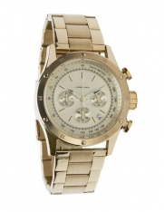 Flud Gold tone Frost Chronograph Watch