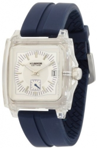 K&BROS Unisex 9405-2 Ice-Time Monaco Square Blue Silicon Watch