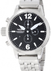 Haemmer Women's DHC-22 Secrets Stainless Steel Black Dial Chronograph Watch